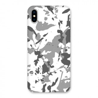 Grey Camouflage Army Back Case for iPhone X