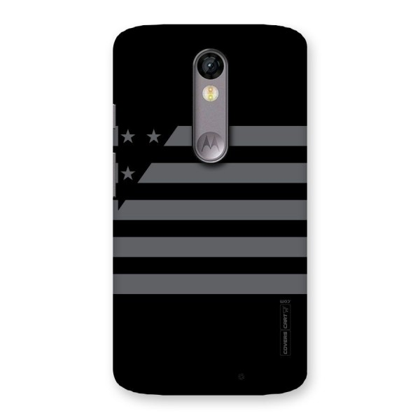 Grey Star Striped Pattern Back Case for Moto X Force