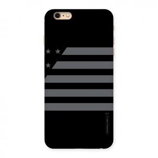 Grey Star Striped Pattern Back Case for iPhone 6 Plus 6S Plus