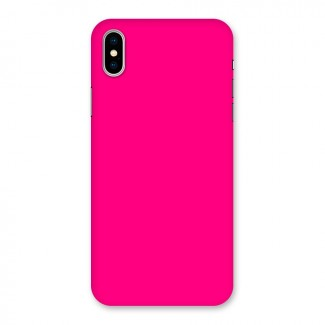 Hot Pink Back Case for iPhone X