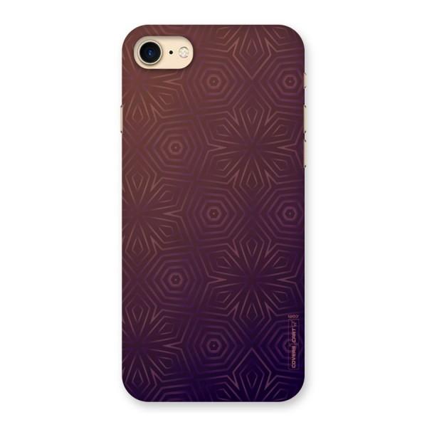 Lavish Purple Pattern Back Case for iPhone 7