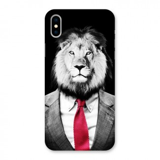 Lion with Red Tie Back Case for iPhone X