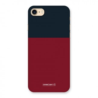 Maroon and Navy Blue Back Case for iPhone 7