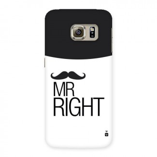 Mr. Right Moustache Back Case for Samsung Galaxy S6 Edge