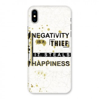 Negativity Thief Back Case for iPhone X