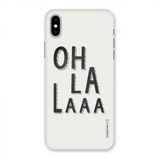 Oh La La Back Case for iPhone X