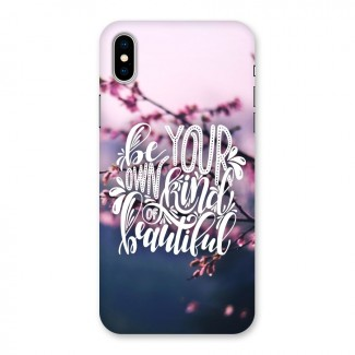 Own Kind of Beautiful Back Case for iPhone X