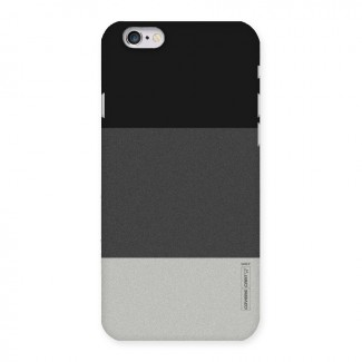 Pastel Black and Grey Back Case for iPhone 6 6S
