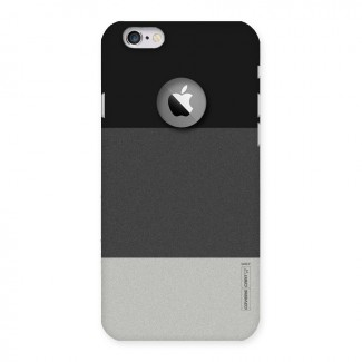 Pastel Black and Grey Back Case for iPhone 6 Logo Cut