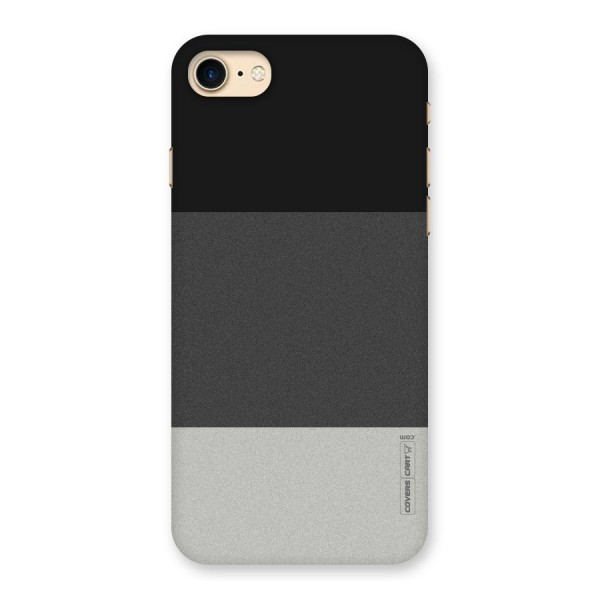 Pastel Black and Grey Back Case for iPhone 7