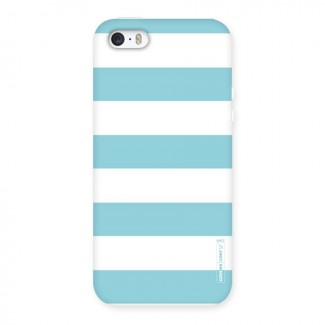 Pastel Blue White Stripes Back Case for iPhone 5 5S
