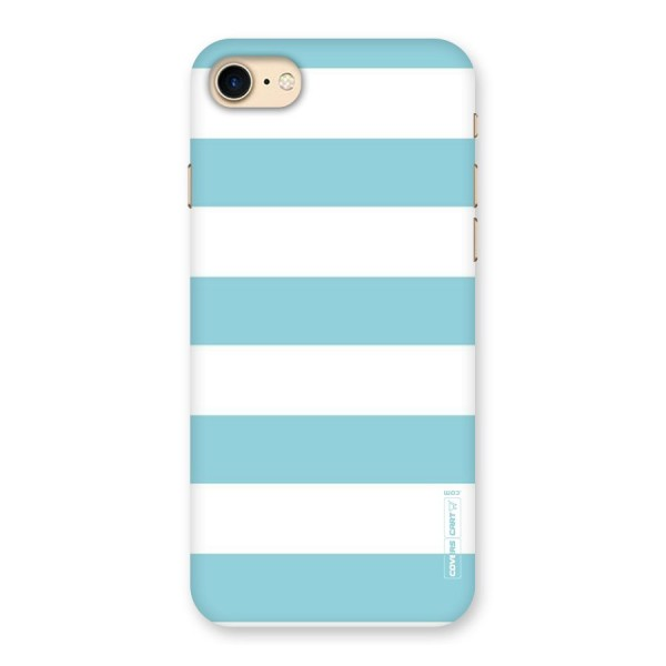 Pastel Blue White Stripes Back Case for iPhone 7