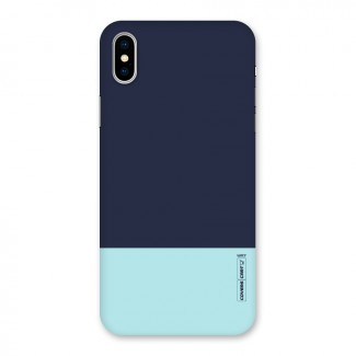 Pastel Blues Back Case for iPhone X