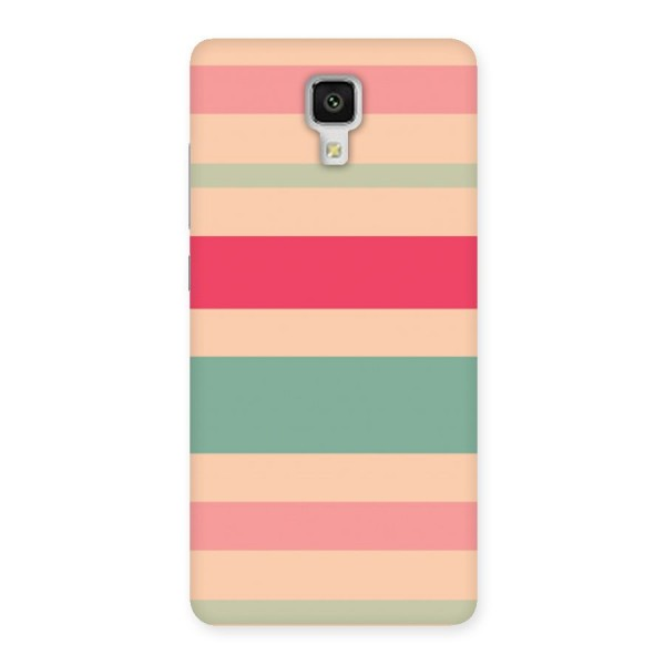 Pastel Stripes Vintage Back Case for Xiaomi Mi 4
