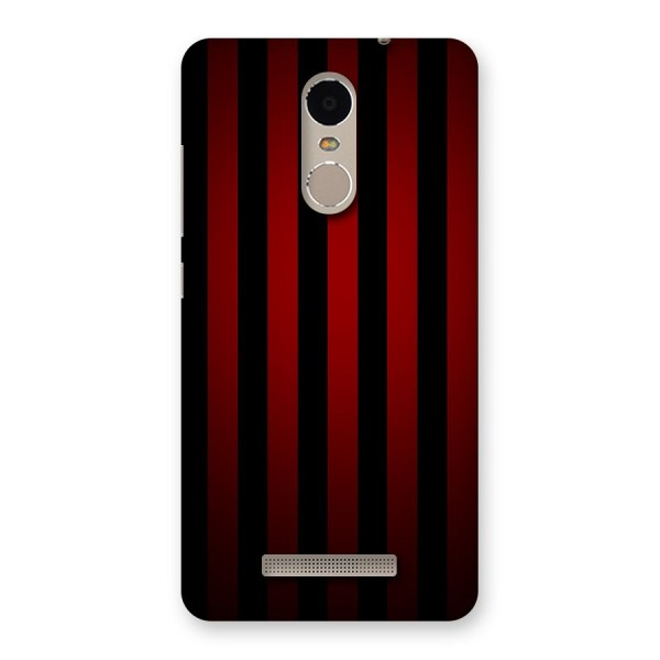 Red Black Stripes Back Case for Xiaomi Redmi Note 3