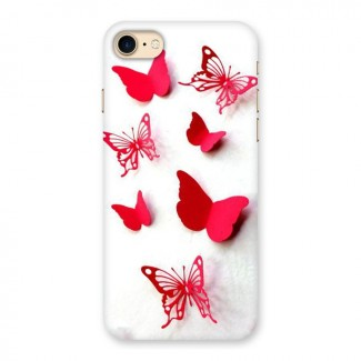 Red Butterflies Back Case for iPhone 7