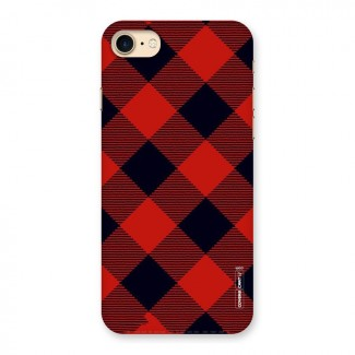 Red Diagonal Check Back Case for iPhone 7