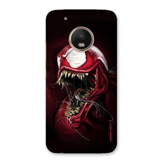 Red Venom Artwork Back Case for Moto G5 Plus