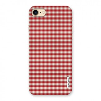 Red White Check Back Case for iPhone 7