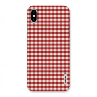 Red White Check Back Case for iPhone X