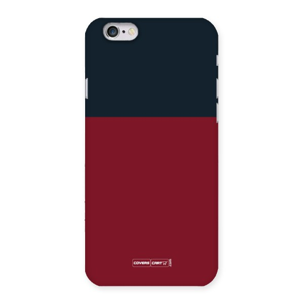 Maroon and Navy Blue Back Case for iPhone 6 6S