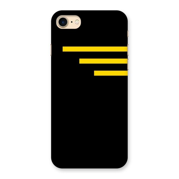 Sports Yellow Stripes Back Case for iPhone 7