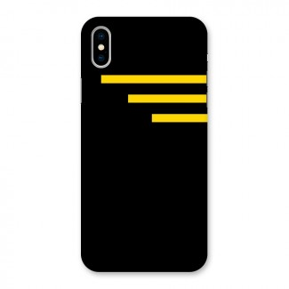 Sports Yellow Stripes Back Case for iPhone X