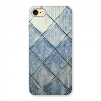 Steel Blue Pattern Back Case for iPhone 7