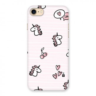 Strawberries And Unicorns Back Case for iPhone 7