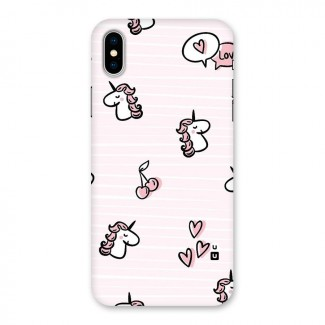 Strawberries And Unicorns Back Case for iPhone X