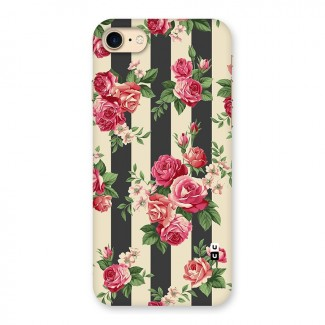 Stripes And Floral Back Case for iPhone 7