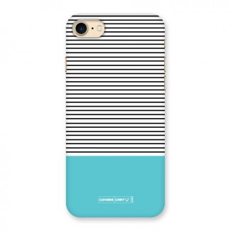 Deep Sky Blue Stripes Back Case for iPhone 7