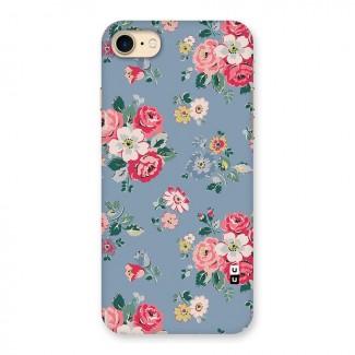 Vintage Flower Pattern Back Case for iPhone 7