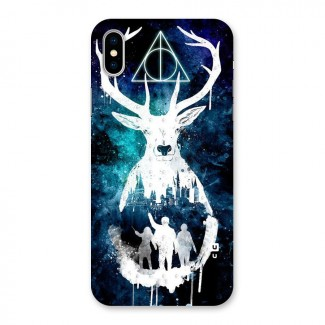 White Deer Back Case for iPhone X