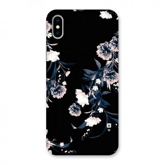 White Flora Back Case for iPhone X
