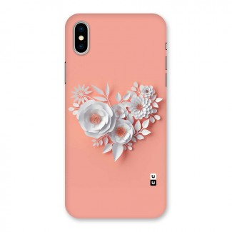 White Paper Flower Back Case for iPhone X