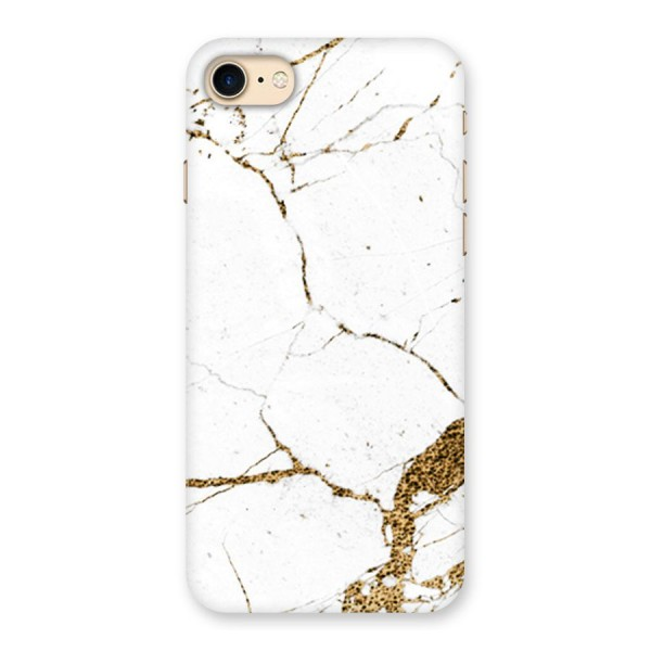 White and Gold Design Back Case for iPhone 7