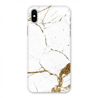 White and Gold Design Back Case for iPhone X