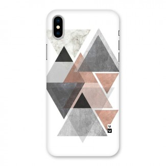 Abstract Diamond Pink Design Back Case for iPhone X
