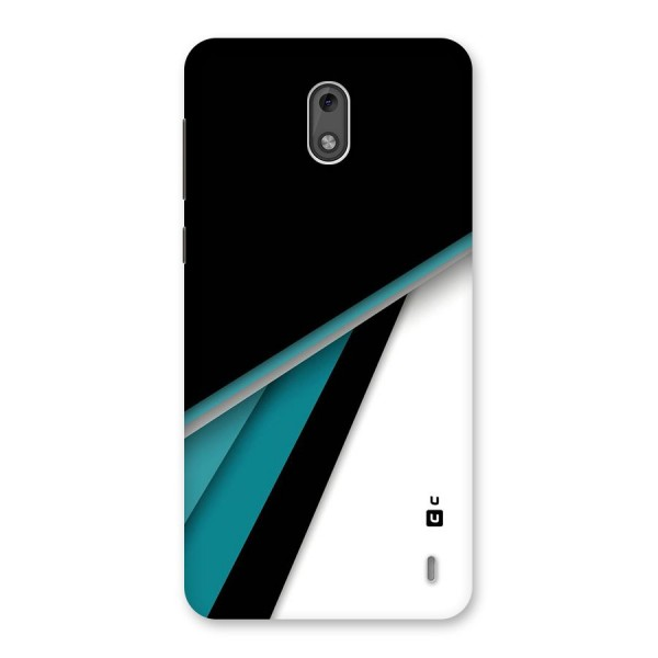 Abstract Lines Of Blue Back Case for Nokia 2