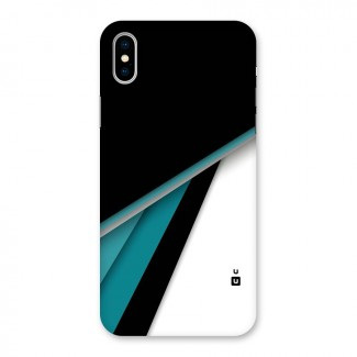 Abstract Lines Of Blue Back Case for iPhone X