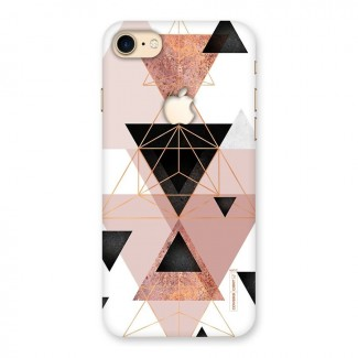 Abstract Rose Gold Triangles Back Case for iPhone 7 Apple Cut