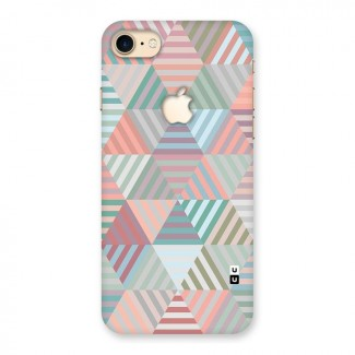Abstract Triangle Lines Back Case for iPhone 7 Apple Cut