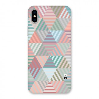 Abstract Triangle Lines Back Case for iPhone X