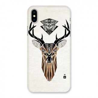 Aesthetic Deer Design Back Case for iPhone X