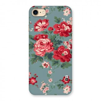 Aesthetic Floral Red Back Case for iPhone 7