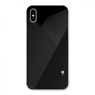Aesthetic White Stripes Back Case for iPhone X