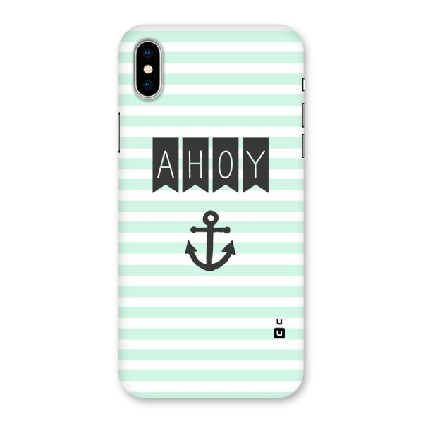 Ahoy Sailor Back Case for iPhone X