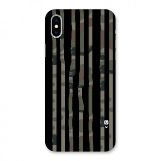 Army Stripes Back Case for iPhone X