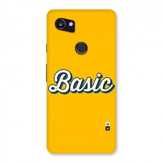 Basic Yellow Back Case for Google Pixel 2 XL